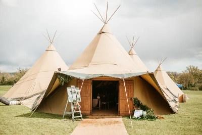 Tipi Wedding Reception Horsham Private Estate