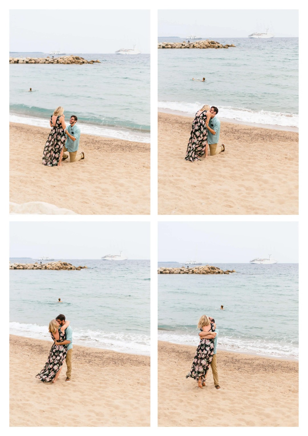 French Riviera Suprise Proposal in Cannes Engagement Photographer
