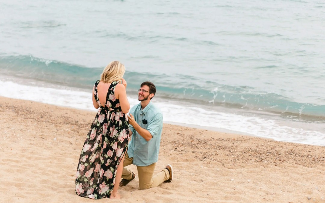 Suprise Proposal on Cannes Beach French Riviera Engagement Photography