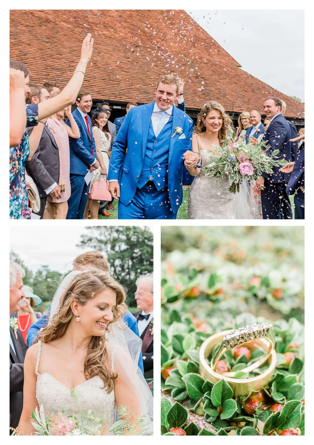 Confetti tunnel at Michelham Priory Barn in Hailsham | East Sussex Wedding Photographer