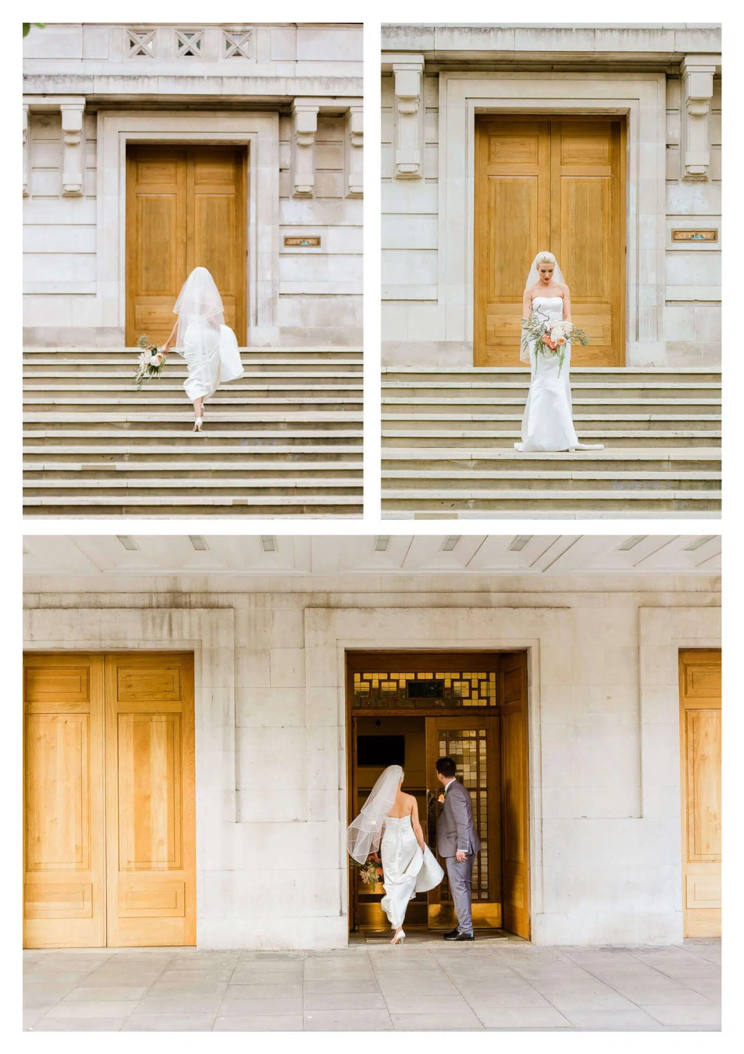 Hackney Town Hall bride with short hair | London photographer