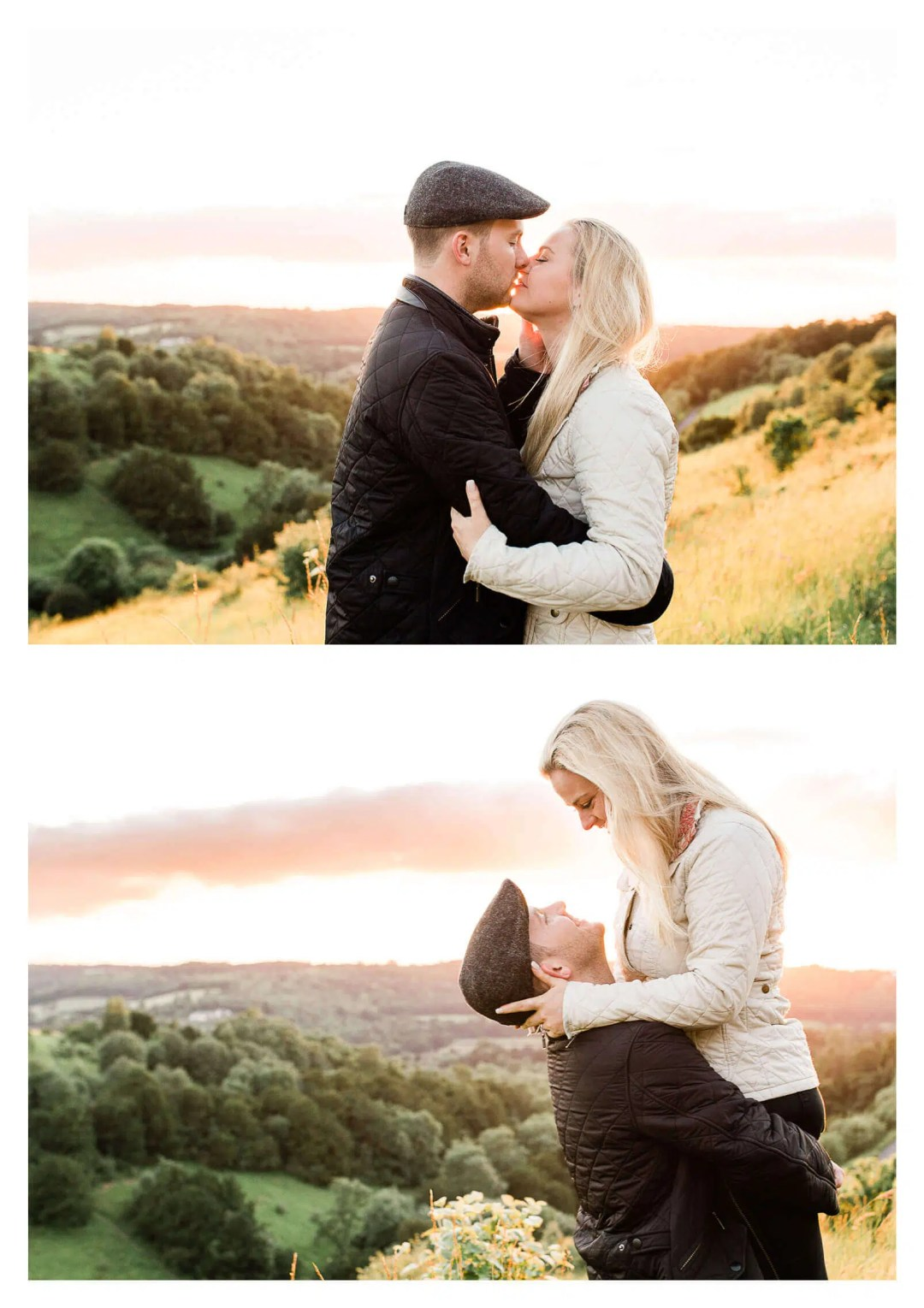 North Downs Box Hill engagement shoot at sunset   Surrey pre-wedding photographer-