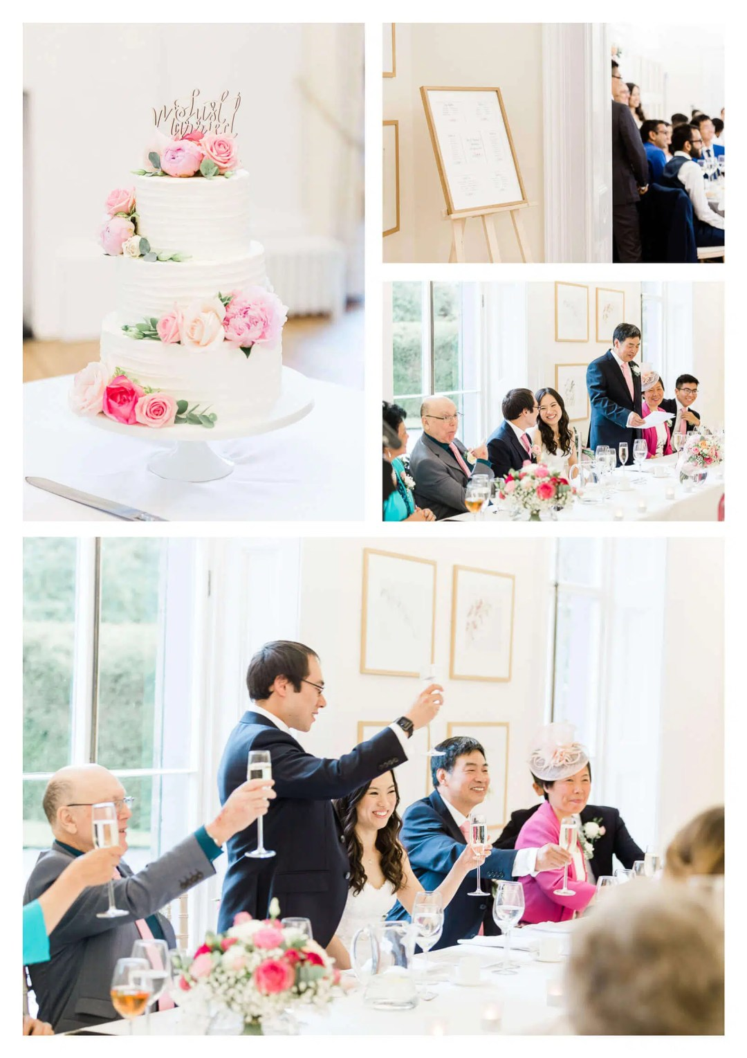 Cambridge Cottage wedding breakfast | Kew Gardens wedding photographer