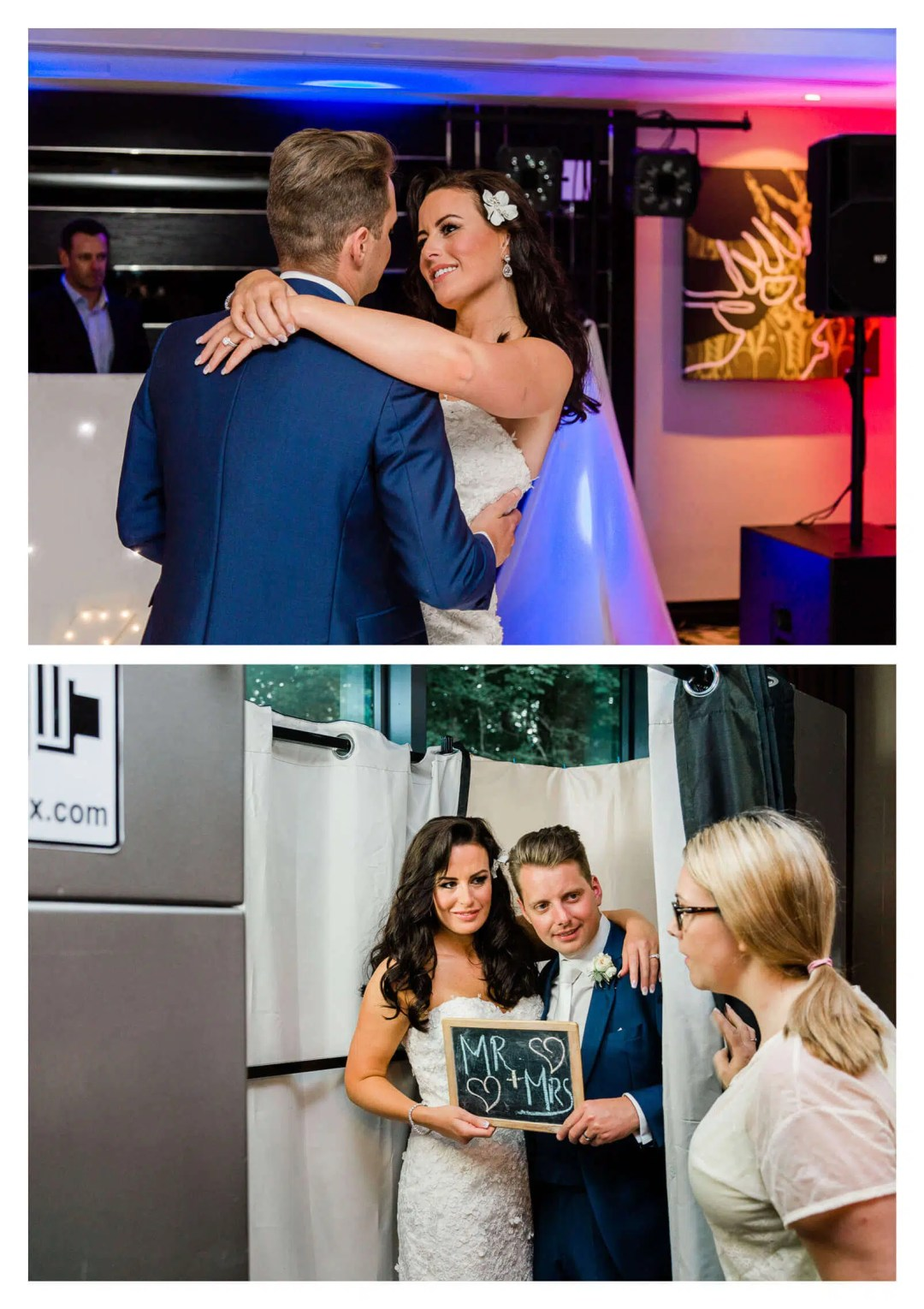 First dance and couple in photo booth | Rhinefield House Hotel wedding photography