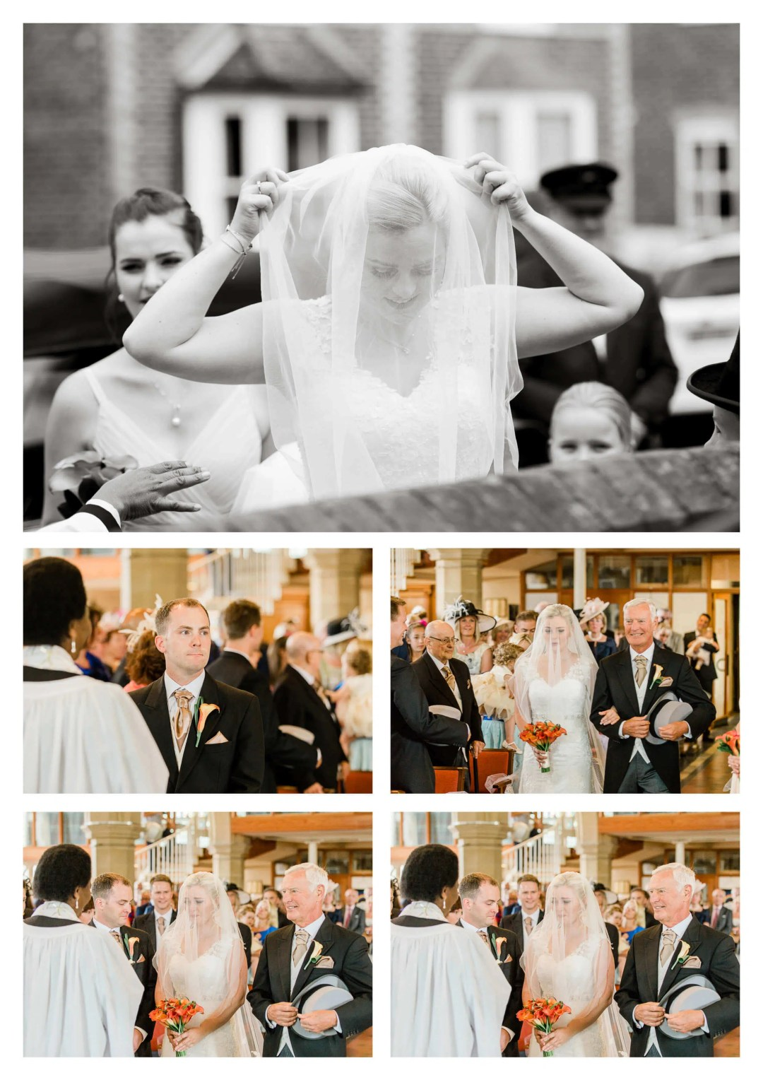 St Bartholomew's Church wedding emotional groom reaction | Surrey Photography
