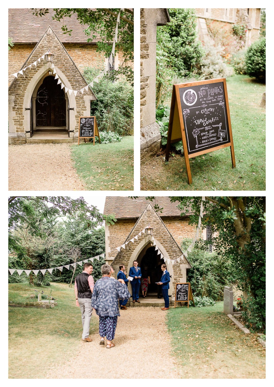 Ceremony at St Luke's Church | wedding photographer in Guildford