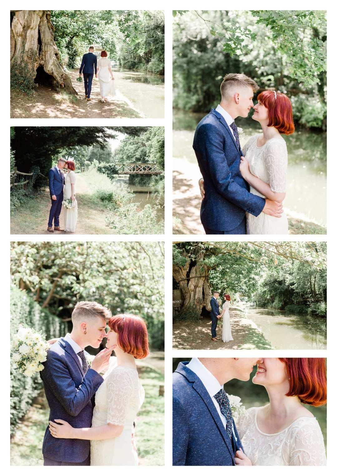 Guildford canal wedding couple portraits | Surrey Wedding Photographer