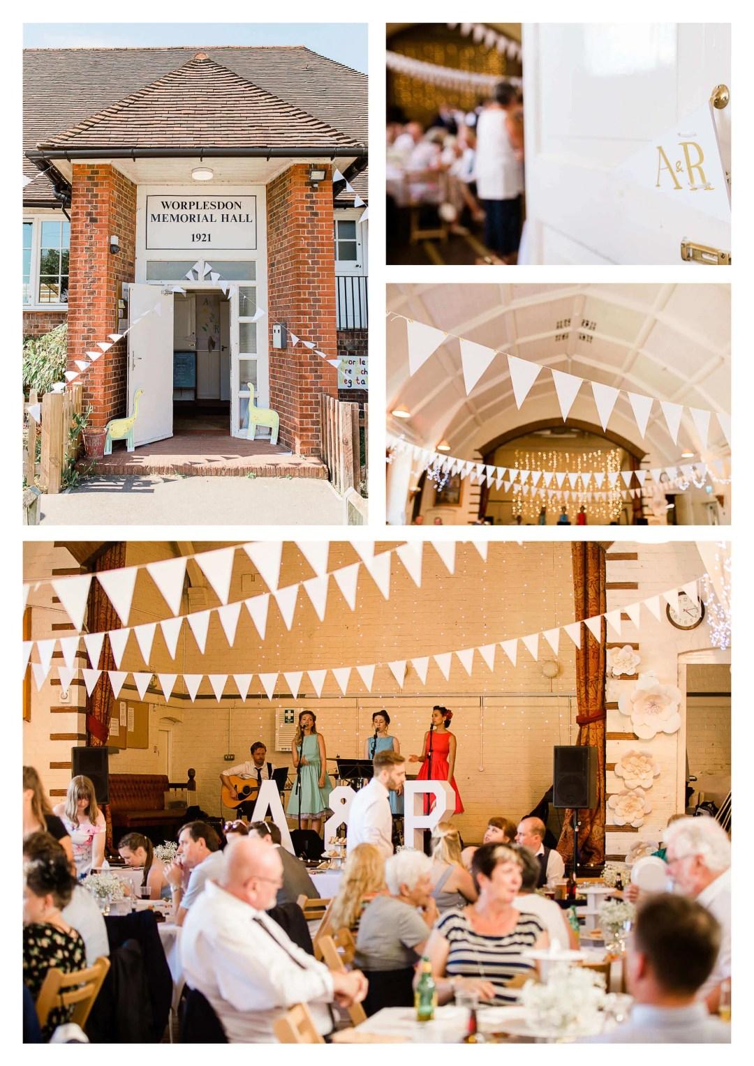 Guildford town hall wedding venue decor | Surrey Wedding Photographer