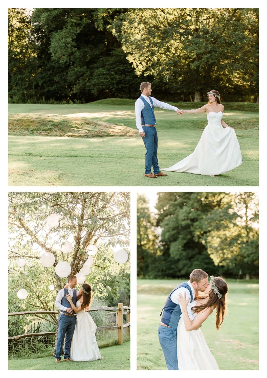 Brookfield Barn wedding photography on golf course | Horsham photographer