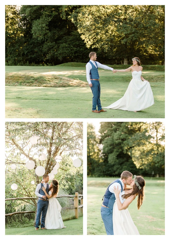 Brookfield Barn wedding photography on golf course | Horsham photographer