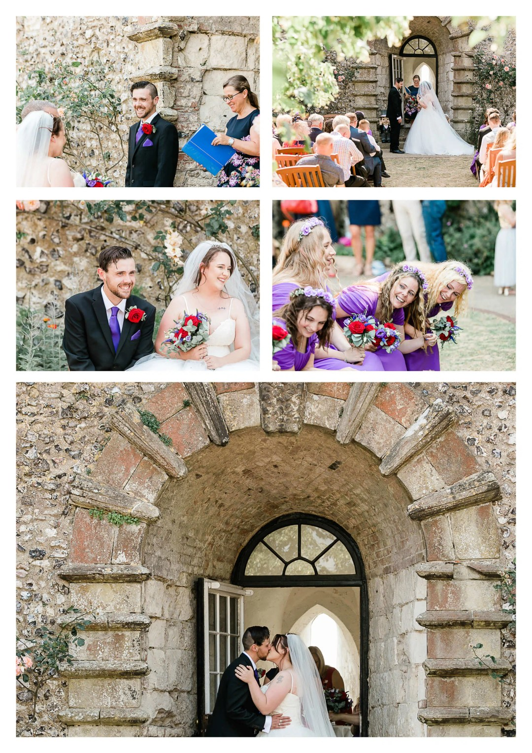 Lewes Castle Wedding Ceremony Photography