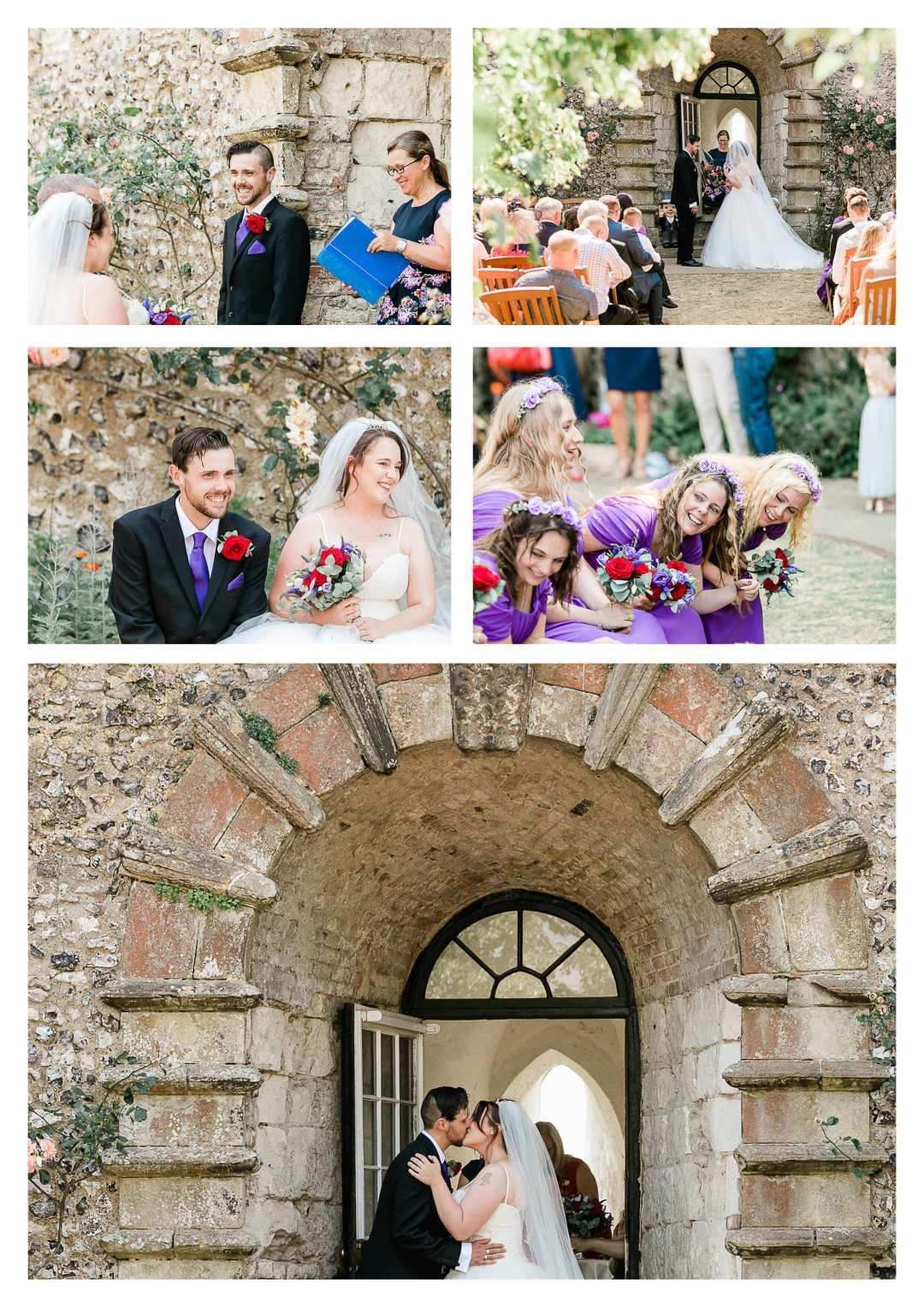 Lewes Castle Wedding Ceremony Photography