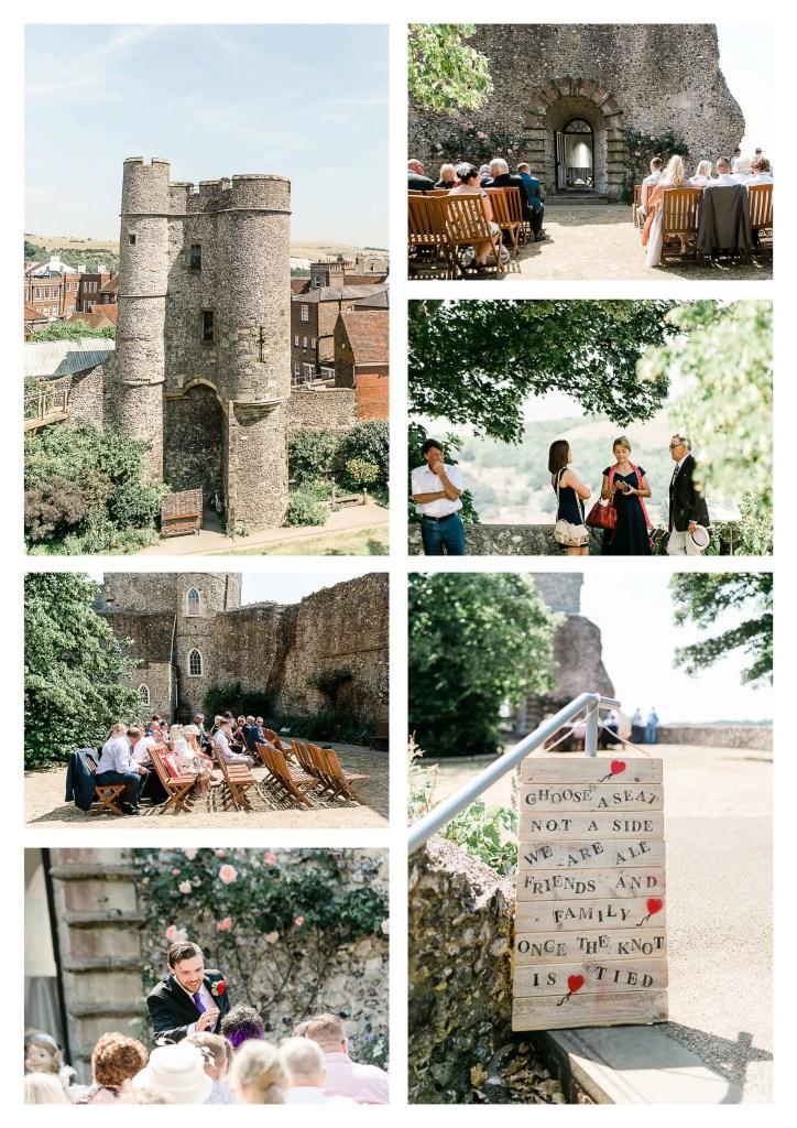 Lewes Castle wedding venue ceremony | Brighton Wedding Photographer