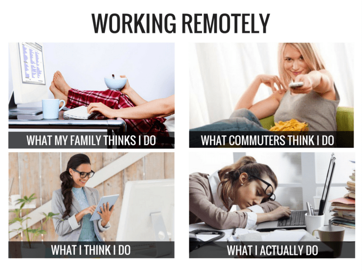 working remotely meme