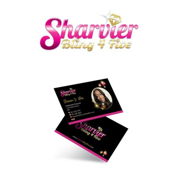 Logo-Design-and-Business-Cards-Sharvier Bling 4 Five by Keltech Designs Creative Agency