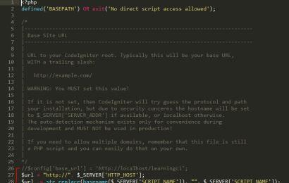 Setting base_url Agar Dinamis Pada Codeigniter