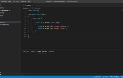 Installasi Software Pendukung Bahasa Pemrograman C# menggunakan Laptop dan Handphone Android dan iOS