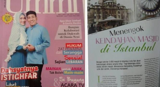 Artikel Masjid Istanbul di Majalah Ummi
