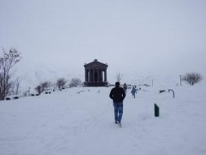 Garni temple in winter