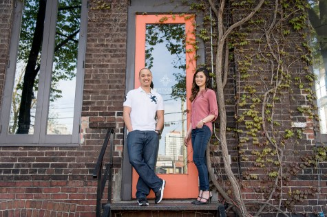 Liberty Village Engagement Photo Session