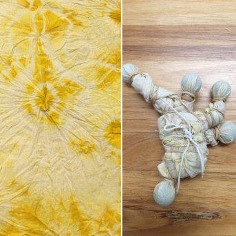 shibori giallo tecnica di colorazione dei tessuti giapponese