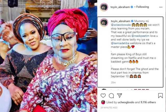 Toyin Abraham hails Sola Sobowale