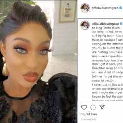 'Your ex-partners are not the issue; work on your choices.' Blessing Okoro, a relationship expert, writes an open letter to Tonto Dikeh.