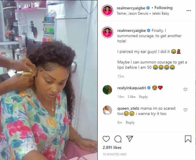 Mercy Aigbe hints at undergoing lipo