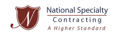 Contracting Logo, National Specialty Contracting logo designed by Kemp Design Services, Patriotic logo