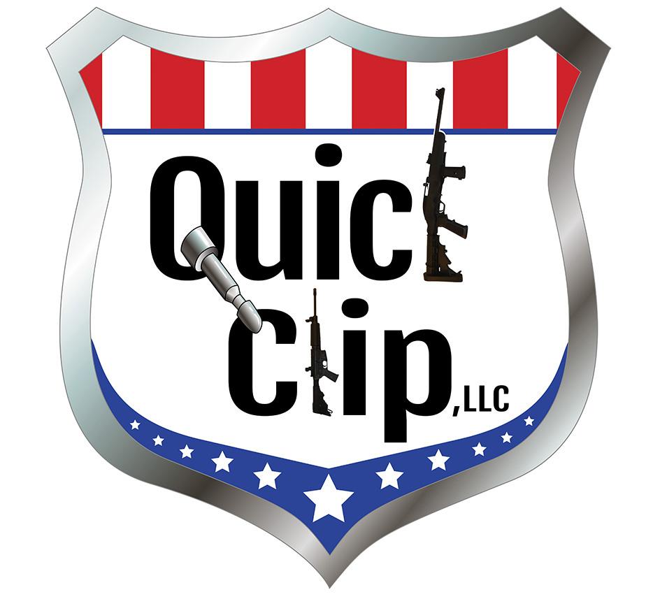 Quick Clip Logo; shooting logo, shooting accessory logo; patriotic logo