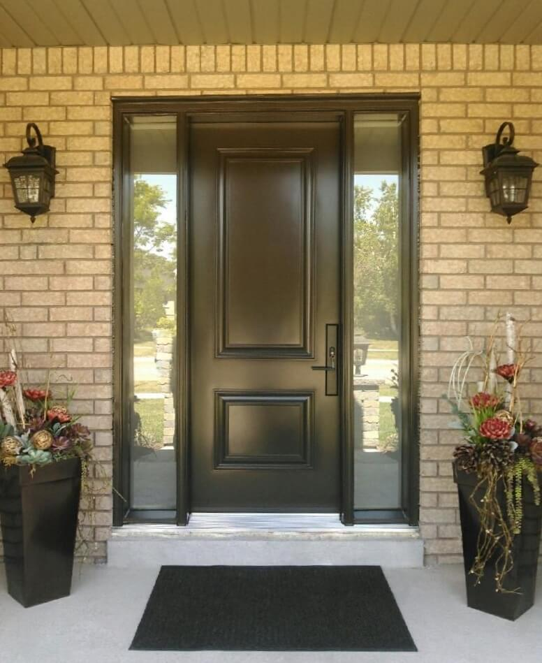 Steel Front Entry Door With Full Glass Sidelites