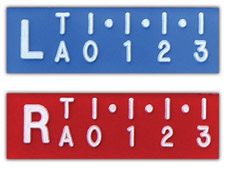 "2DR - R & L 1/2"" Digital Ruler X-Ray Markers"