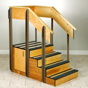 Physical Therapy Staircase & Storage Island