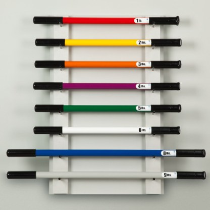 Physical Therapy Wall Weight Bar Rack