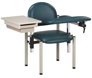 SC Series, Padded Blood Draw Chair w/ Padded Flip Arm & Drawer