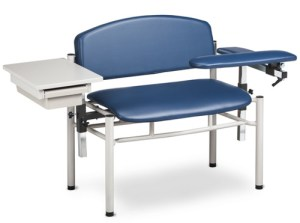 SC Series, Extra-Wide, Padded, Blood Draw Chair w/Flip Arms