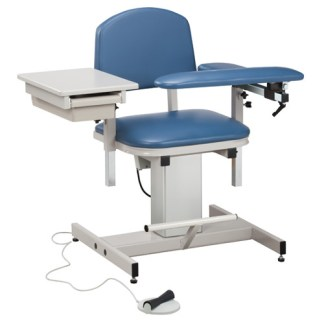 Power Series Blood Draw Chair with Padded Flip Arm and Drawer