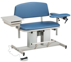 Power Series Bariatric Phlebotomy Chair with Flip Arm & Drawer
