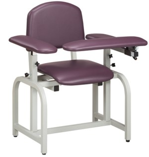 Lab X Series Blood Draw Chair with Padded Arms
