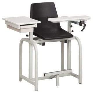 Standard Lab Series, Extra Tall Blood Draw Chair with Flip Arm