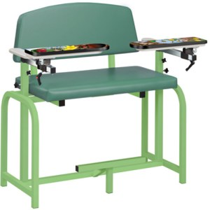 Pediatric Series - Extra Wide Spring Garden Blood Drawing Chair