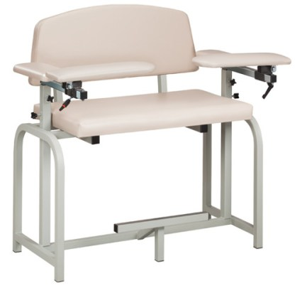 Lab X Series Extra Tall & Wide Blood Draw Chair w/ Padded Arms