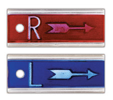 "Elite 1/2"" X-ray Film Marker Set w/Arrow (No Initials)"
