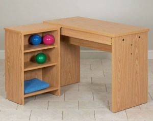 Hand Therapy Table with Shelf Unit