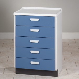 Molded Top Treatment Cabinet with 5 Drawers