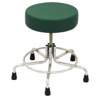 "Non-Magnetic MRI Adjustable Stool, 15"" to 21"" with Rubber Tips - Green"