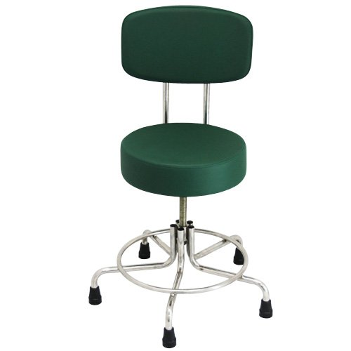 Non-Magnetic MRI Adjustable Stool with Rubber Tips and Back