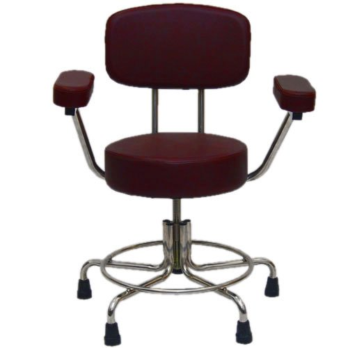 Non-Magnetic MRI Adjustable Stool w/ Rubber Tips, Back & Arms