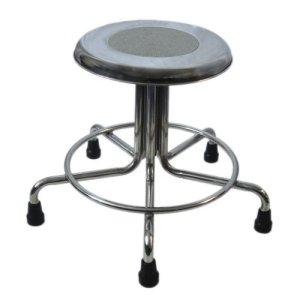 "MRI Non-Magnetic Adjustable Height Doctor Stool, 21"" to 27"""
