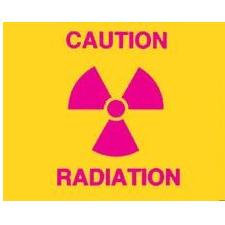 Large Radiation Caution Sign